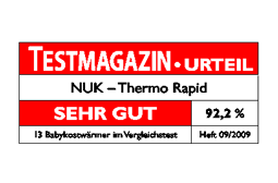 [Translate to South Africa:] Germany 2009: Very Good – NUK Baby Food Warmer  Thermo Rapid