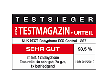 [Translate to South Africa:] Germany 2012: Very Good – NUK Baby Monitor ECO Conrol+