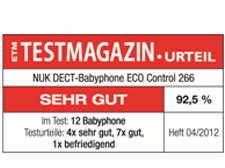 [Translate to South Africa:] Germany 2012: Very Good – NUK Babyphone ECO Control 266