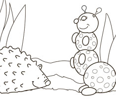 [Translate to South Africa:] NUK colouring page with hedgehog