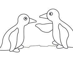 [Translate to South Africa:] NUK colouring page with penguin motif
