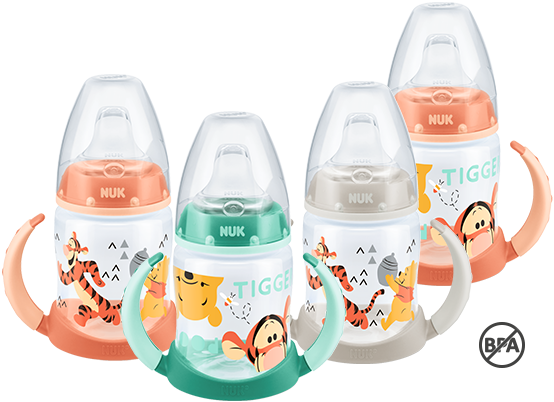 [Translate to South Africa:] NUK First Choice Disney Winnie the Pooh Learner Bottle 150ml with spout